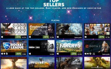 Steam toppsäljarna första halvåret 2018